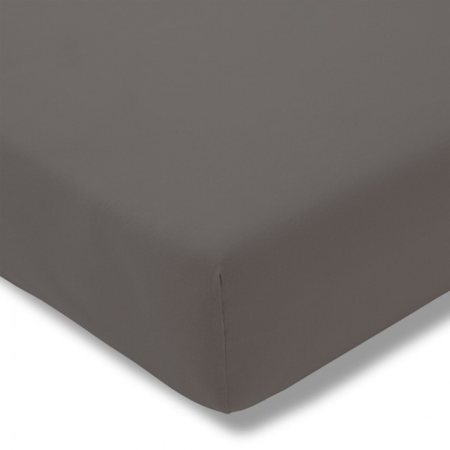 Zwirnjersey Topper graphit Exquisit